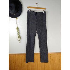 Betabrand Grey Pinstriped Straight Leg Work Pants